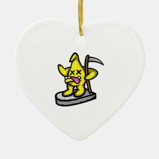 Grim Star Ceramic Heart Decoration