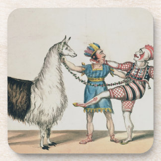 Grimaldi and the Alpaca in the Popular Pantomime Drink Coasters