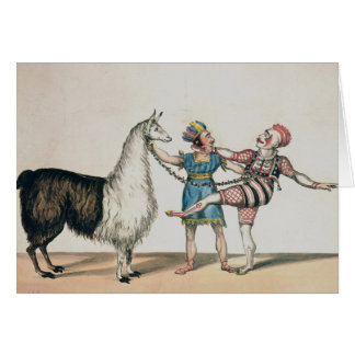 Grimaldi and the Alpaca, in the Popular Pantomime Greeting Card
