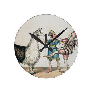 Grimaldi and the Alpaca, in the Popular Pantomime Round Clock