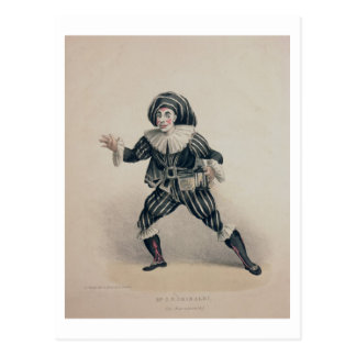Grimaldi as Scaramouche, from the Commedia dell'Ar Postcard