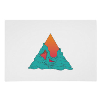 Grime Sunset Triangle Poster