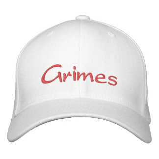 Grimes White Cap Embroidered Baseball Caps