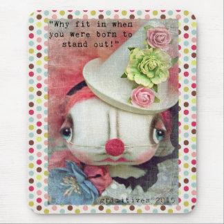 Grimitives Clown Doll mousepad by Kaf Grimm
