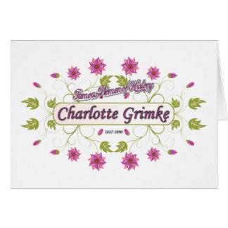 Grimke ~ Charlotte ~ Famous American Women Card