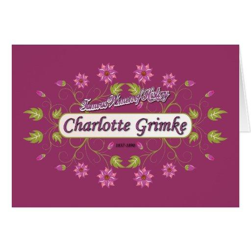 Grimke ~ Charlotte ~ Famous American Women Greeting Card