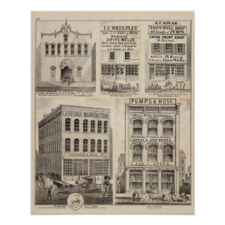 Grimshaw and Town, Minnesota Poster