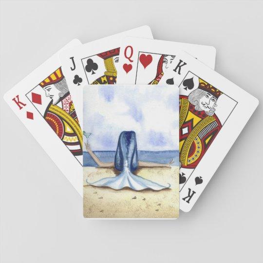 Grimshaw Beach Margarita Mermaid  Playing Cards