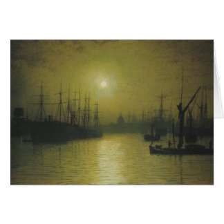 Grimshaw s Nightfall Thames Greeting Card