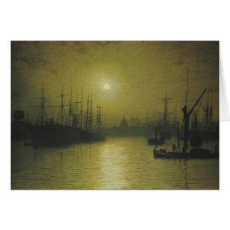 Grimshaw's Nightfall Thames Greeting Card