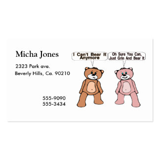 Grin & Bear It Double-Sided Standard Business Cards (Pack Of 100)