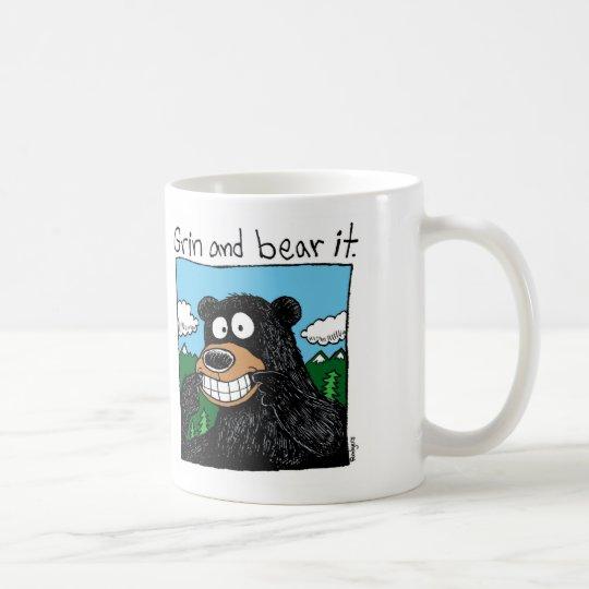 grin & bear it coffee mug