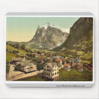 Grindelwald and Wetterhorn Mountain, Bernese Oberl Mouse Mat