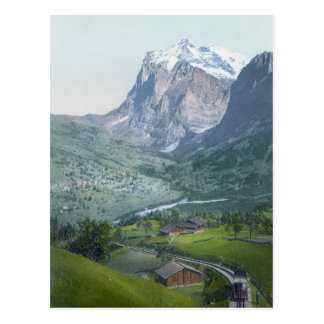 Grindelwald and Wetterhorn Postcard