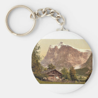 Grindelwald, chalet and Mount Wetterhorn, Bernese Key Ring