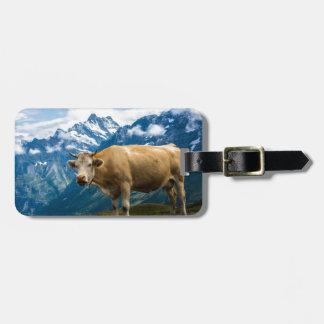 Grindelwald Cow - Bernese Alps - Switzerland Luggage Tag