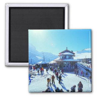 Grindelwald Grund Square Magnet