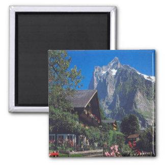 Grindelwald, Jungfrau region Square Magnet
