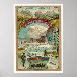 Grindelwald Switzerland Vintage Travel Poster