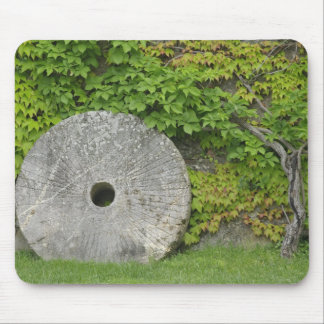 Grinding stone, Castle Banfi in Tuscany region, Mouse Pad