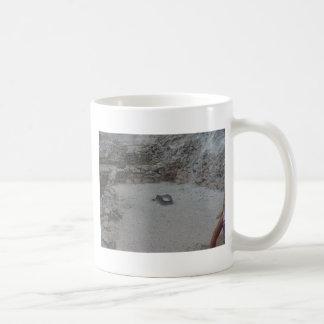 grinding stone coffee mug