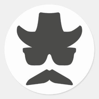 Gringo Moustache Classic Round Sticker
