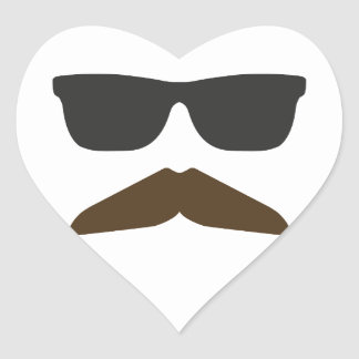 Gringo Moustache Heart Sticker