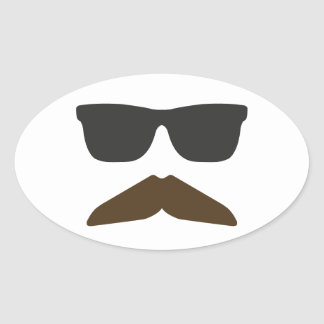 Gringo Moustache Oval Sticker