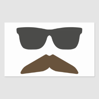 Gringo Moustache Rectangular Sticker