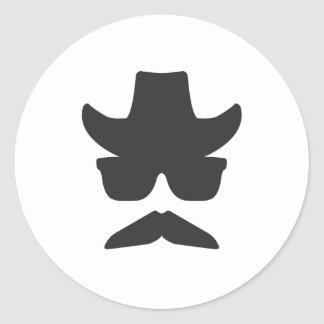 Gringo Moustache Round Sticker