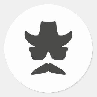 Gringo Moustache Round Sticker