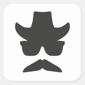 Gringo Moustache Square Sticker