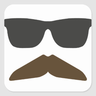 Gringo Moustache Square Sticker