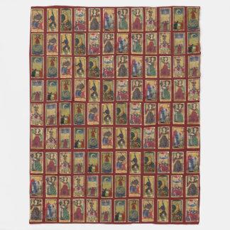 Gringonneur Tarot throw Fleece Blanket