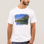 Grinnel Point and Allen Mountain reflect into T-Shirt