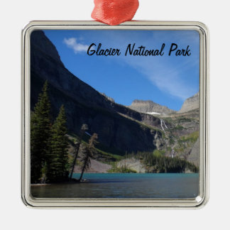 Grinnell Lake - Glacier National Park Silver-Colored Square Decoration