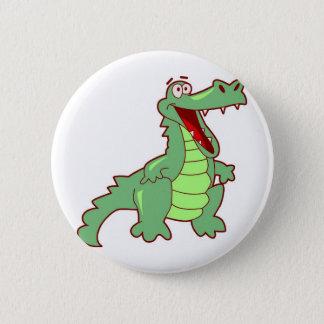 Grinning Alligator 6 Cm Round Badge