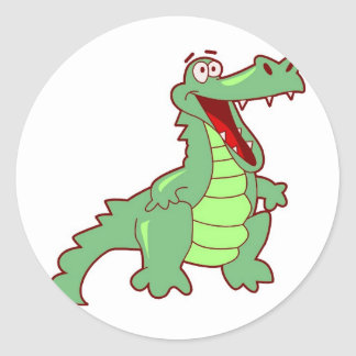 Grinning Alligator Classic Round Sticker
