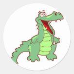 Grinning Alligator Round Sticker