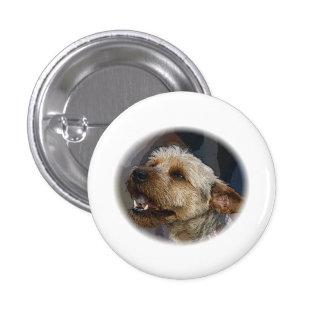 Grinning Border Terrier Cross 3 Cm Round Badge