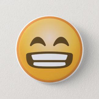 Grinning Emoji 6 Cm Round Badge