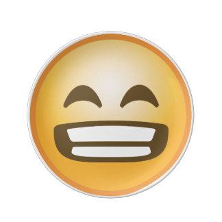 Grinning Emoji Porcelain Plates
