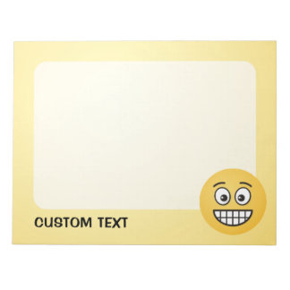 Grinning Face with Open Eyes Notepad