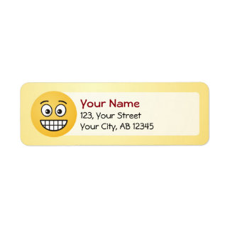 Grinning Face with Open Eyes Return Address Label