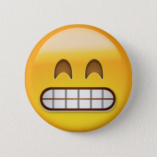 Grinning Face With Smiling Eyes Emoji 6 Cm Round Badge