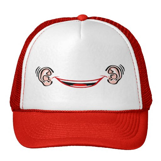 Grinning from Ear to Ear Trucker Hats