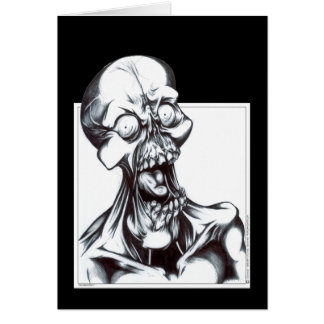 Grinning Ghoul Greeting Card