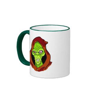 Grinning Green Ghoul Ringer Mug