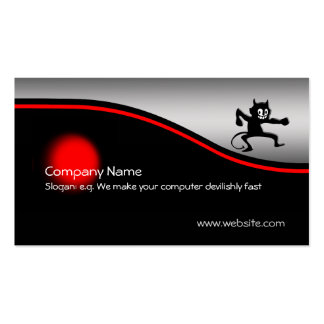 Grinning Gremlin Imp, red spot, metallic-look Pack Of Standard Business Cards