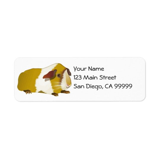 Grinning Guinea Pig Return Address Label